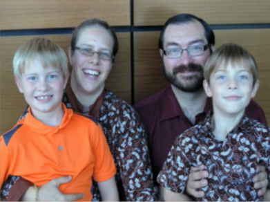 The Trozzo Family: Eric, Wendolyn, Dante & Caedmon